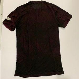 Rock Revival Shirts - Men's Rock Revival burnout burgundy and black tee